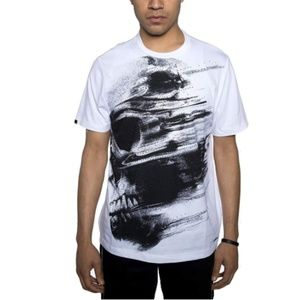 Abstract Skull Graphic T-Shirt